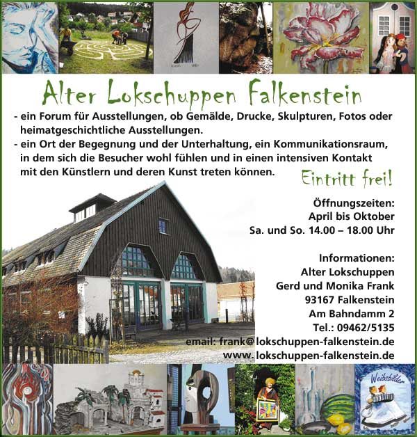 Ausstellungsraum | Alter Lokschuppen | Falkenstein